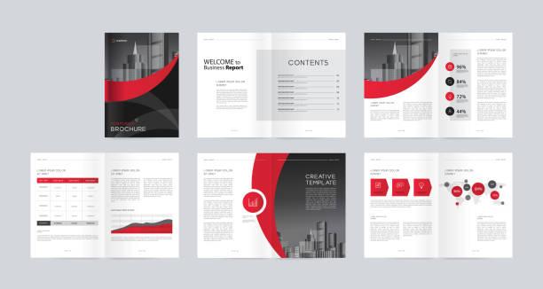 Vorlagen Layout mit Titelseite für Firmenprofil, Geschäftsbericht, Broschüren, Flyer, Magazin, Buch. Und Vektor a4 Größe für editierbar. – Vektorgrafik