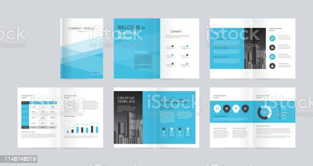 Template Layout Design With Cover Page For Company Profile Annual Report Brochures Flyers Presentations Leaflet Magazine Book And Vector A4 Size For Editable Stock Illustration - Download Image Now