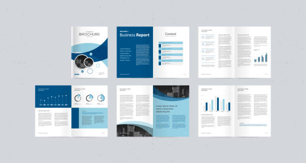template layout design with cover page for company profile ,annual report , brochures, flyers, presentations, leaflet, magazine,book . and vector a4 size for editable. This file EPS 10 format. This illustration contains a transparency and gradient. plan document stock illustrations