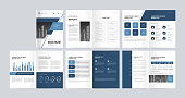 istock template layout design with cover page for company profile, annual report, brochures, flyers, presentations, leaflet, magazine, book .and a4 size scale for editable. 1294368500