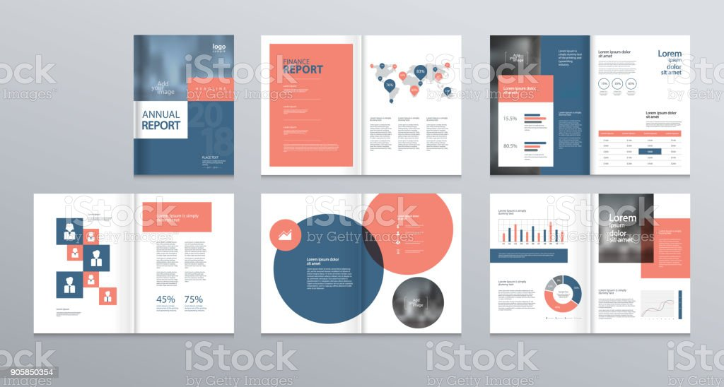 Template Layout Design With Cover Page For Company Profile ,annual Report ,  Brochures, Flyers