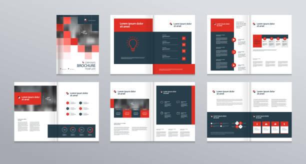 template layout-design mit deckblatt für firmenprofil, geschäftsbericht, broschüren, flyer, präsentationen, broschüre, zeitschrift, buch. und vektor-a4-format für bearbeitet werden. - zeitschrift grafiken stock-grafiken, -clipart, -cartoons und -symbole