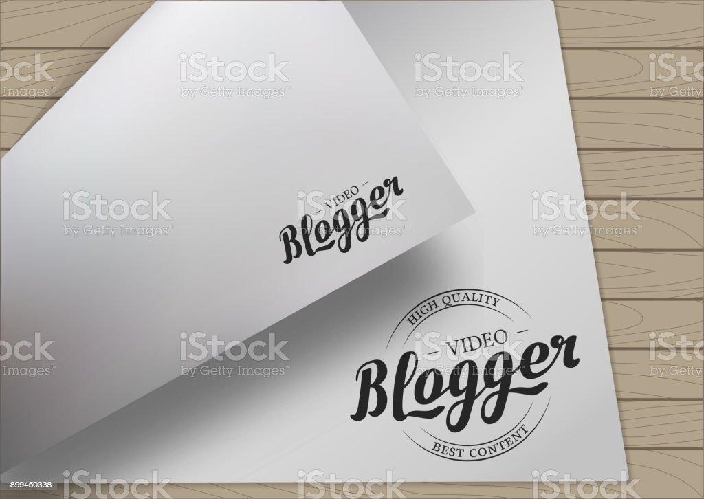 A4 Template Lettering vector art illustration
