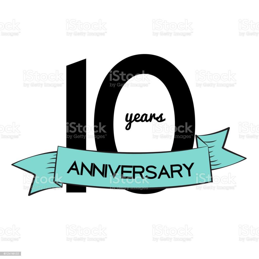 template logo 10 years anniversary vector illustration お祝いの