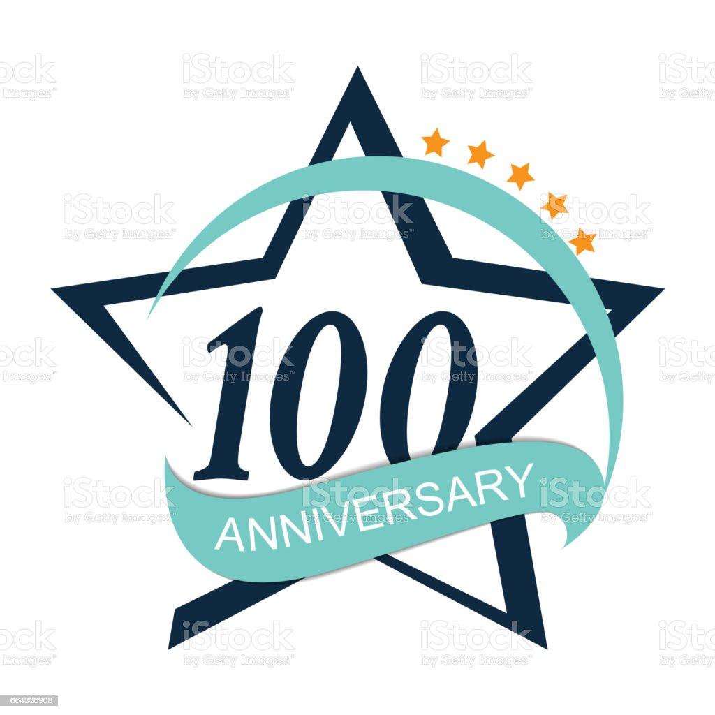 Template Logo 100 Anniversary Vector Illustration vector art illustration