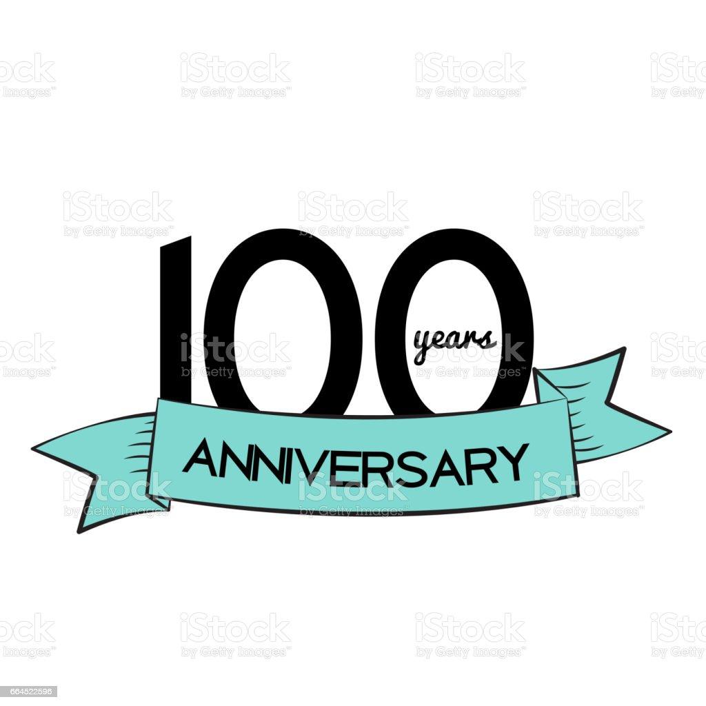 Template Logo 100 Years Anniversary Vector Illustration vector art illustration
