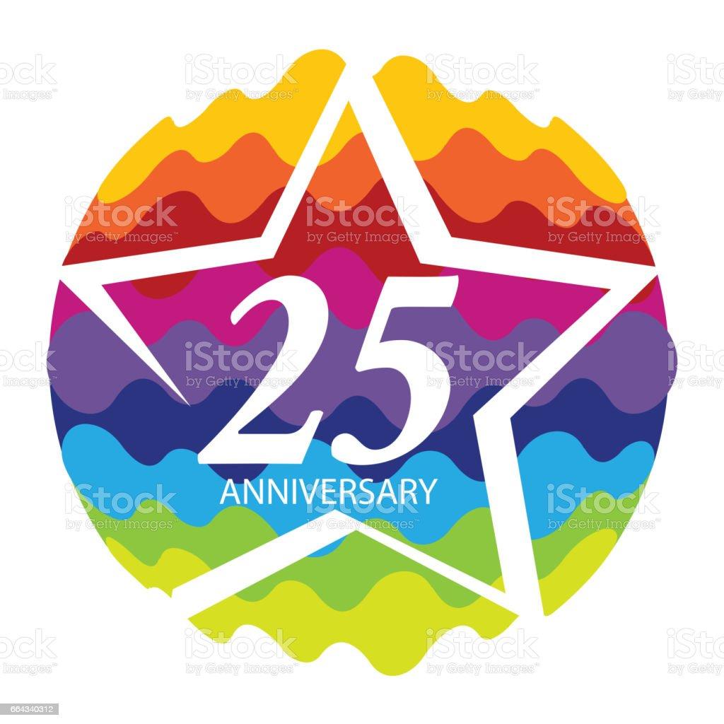 Vorlage Vektor-Illustration-Logo 25-jähriges Jubiläum – Vektorgrafik
