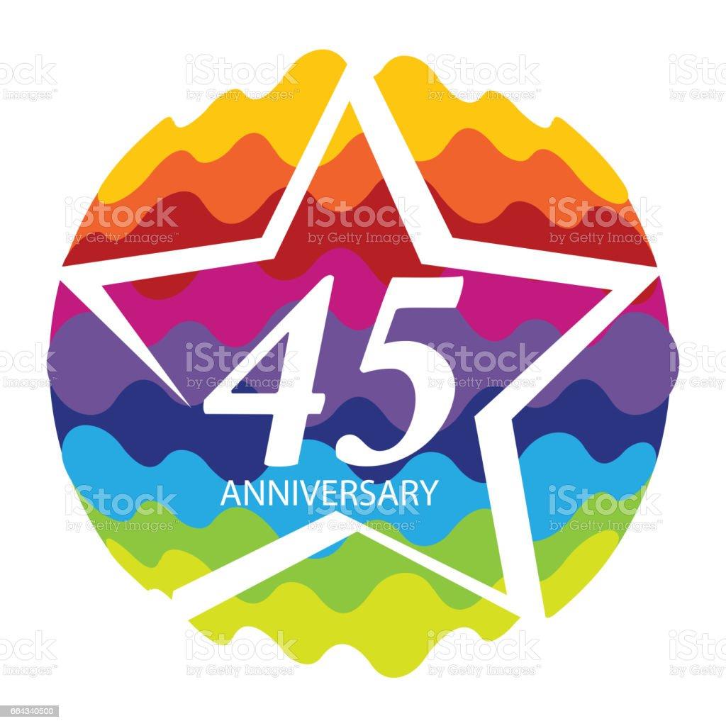 Vorlage 45 Geburtstag Vektorillustrationlogo Stock Vektor Art Und