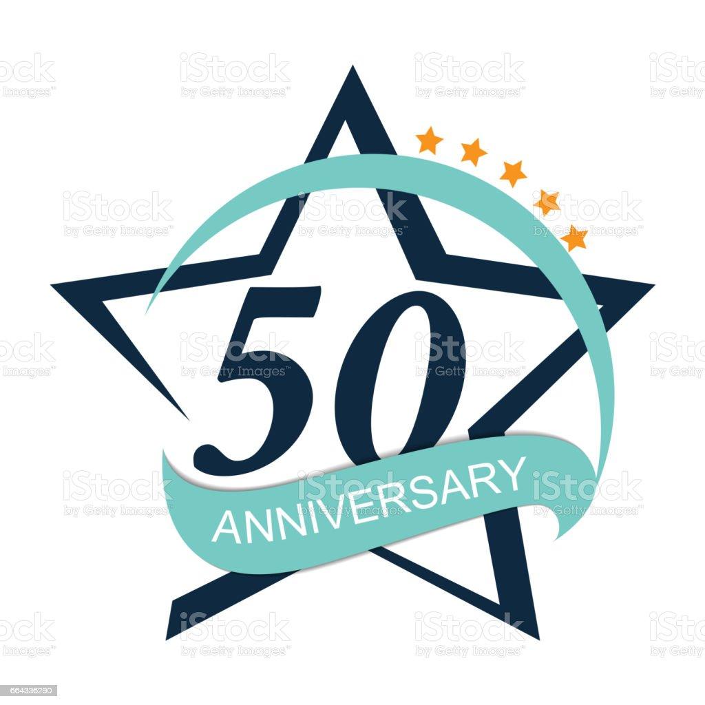 Template Logo 50 Anniversary Vector Illustration vector art illustration