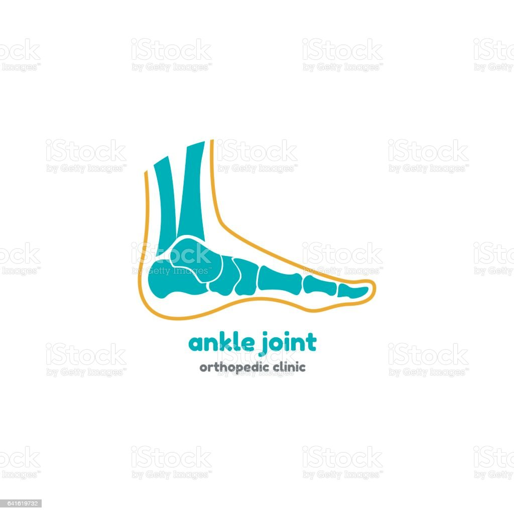 Template Logo For Ankle Joint Stock Vector Art & More Images of ...