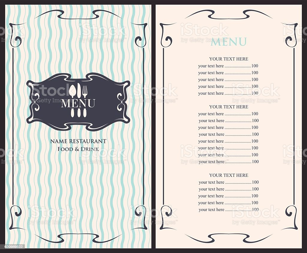 template menu with price のイラスト素材 620989522 istock