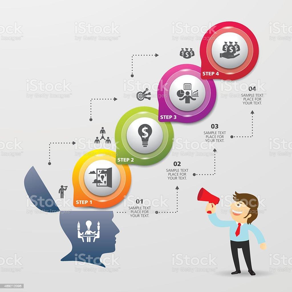Ilustración de Plantilla De Diseño Moderno De Información De Diseño ...
