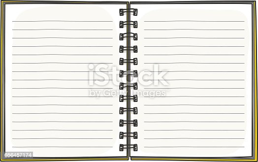 Template Notebook Hand Drawn Diary Business Notepad Stock Vector Art ...