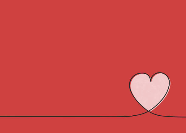 template of a card with cute heart. mother's day, women's day and valentine's day. vector - mothers day stock illustrations