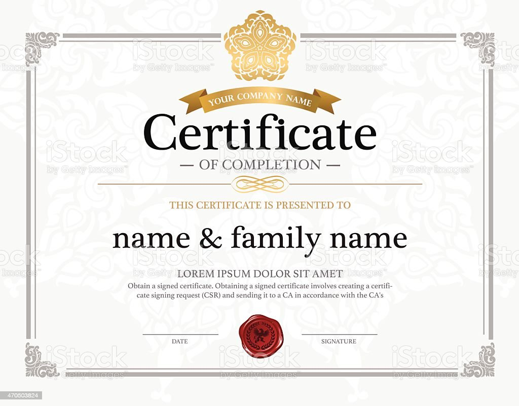 Template of a certificate design stock vector art more images of template of a certificate design royalty free template of a certificate design stock vector art yadclub Choice Image