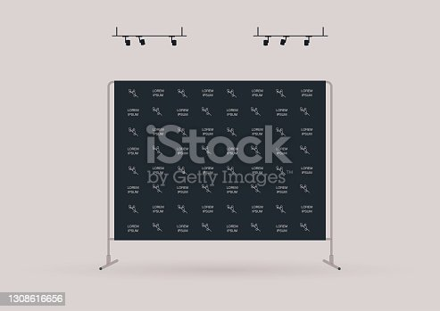 istock A template of a marketing event press wall covered with sponsor logos, no people 1308616656