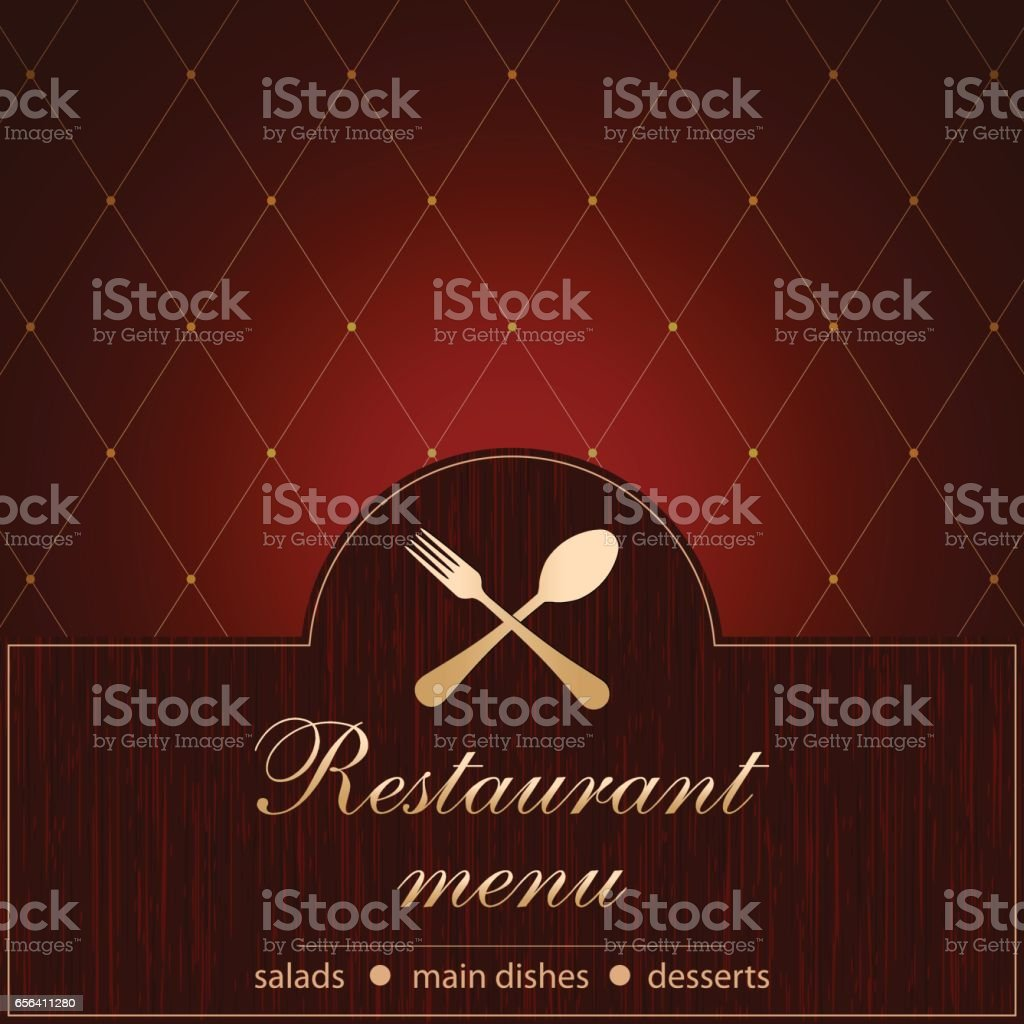 Template Of A Restaurant Menu Stock Illustration - Download ...