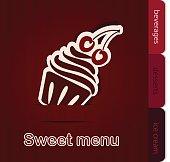 Template of a sweet menu