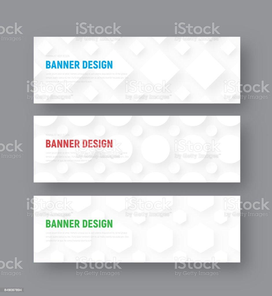 Vorlage Für Eine Weiße Horizontale Banner In Einem ...