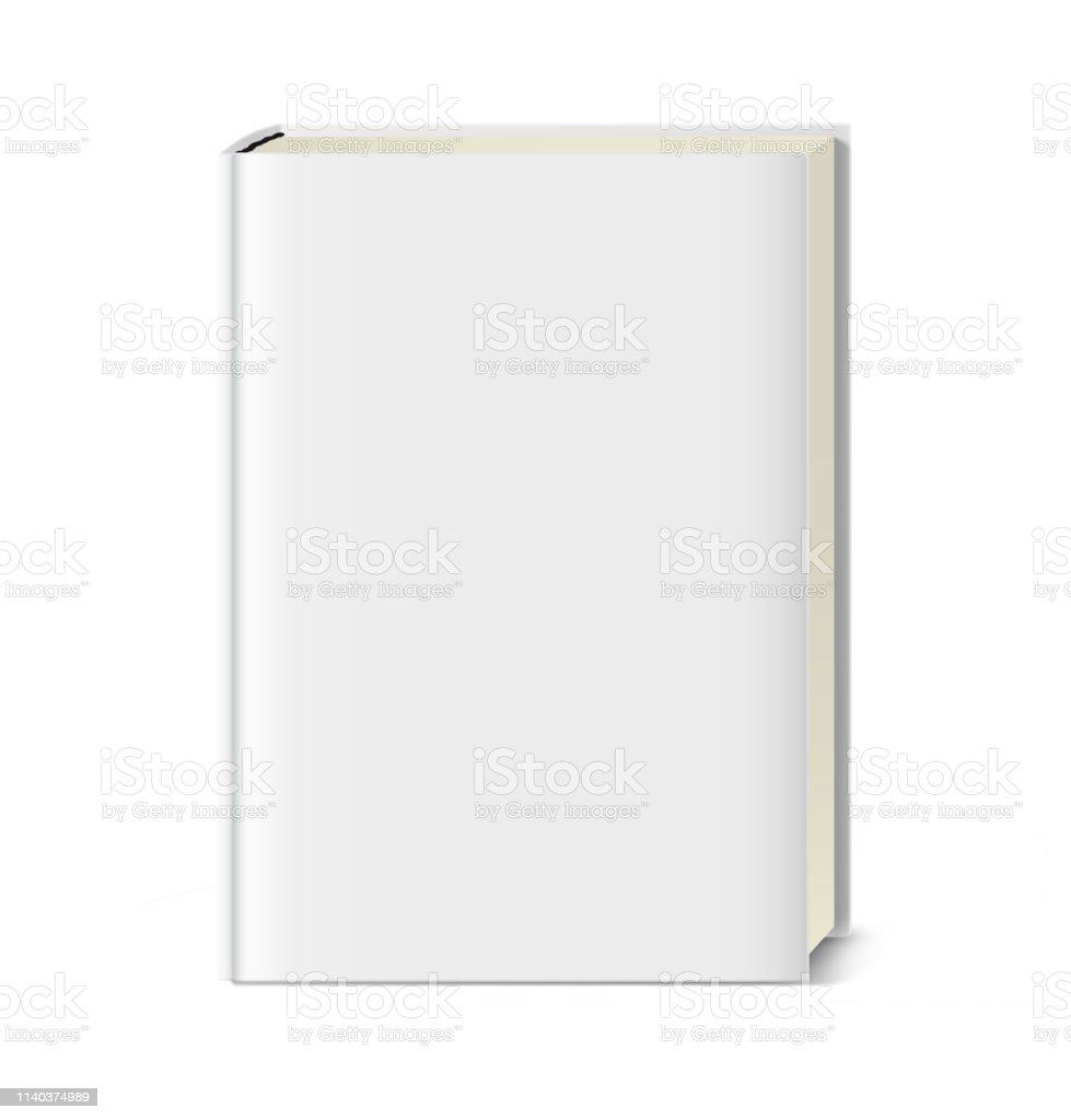Modele De Livre De Couverture Vierge Sur Fond Blanc Vecteurs