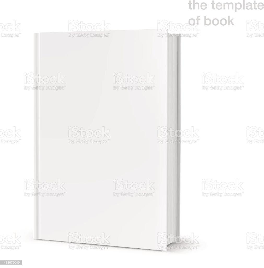 Template of blank cover book on white background. Vector illustration vector art illustration