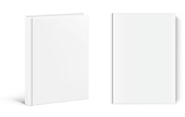 Template of blank cover books on white background. Vector illustration. It can be used for promo, catalogs, brochures, magazines, etc. Ready for your design. EPS10. hardcover book stock illustrations
