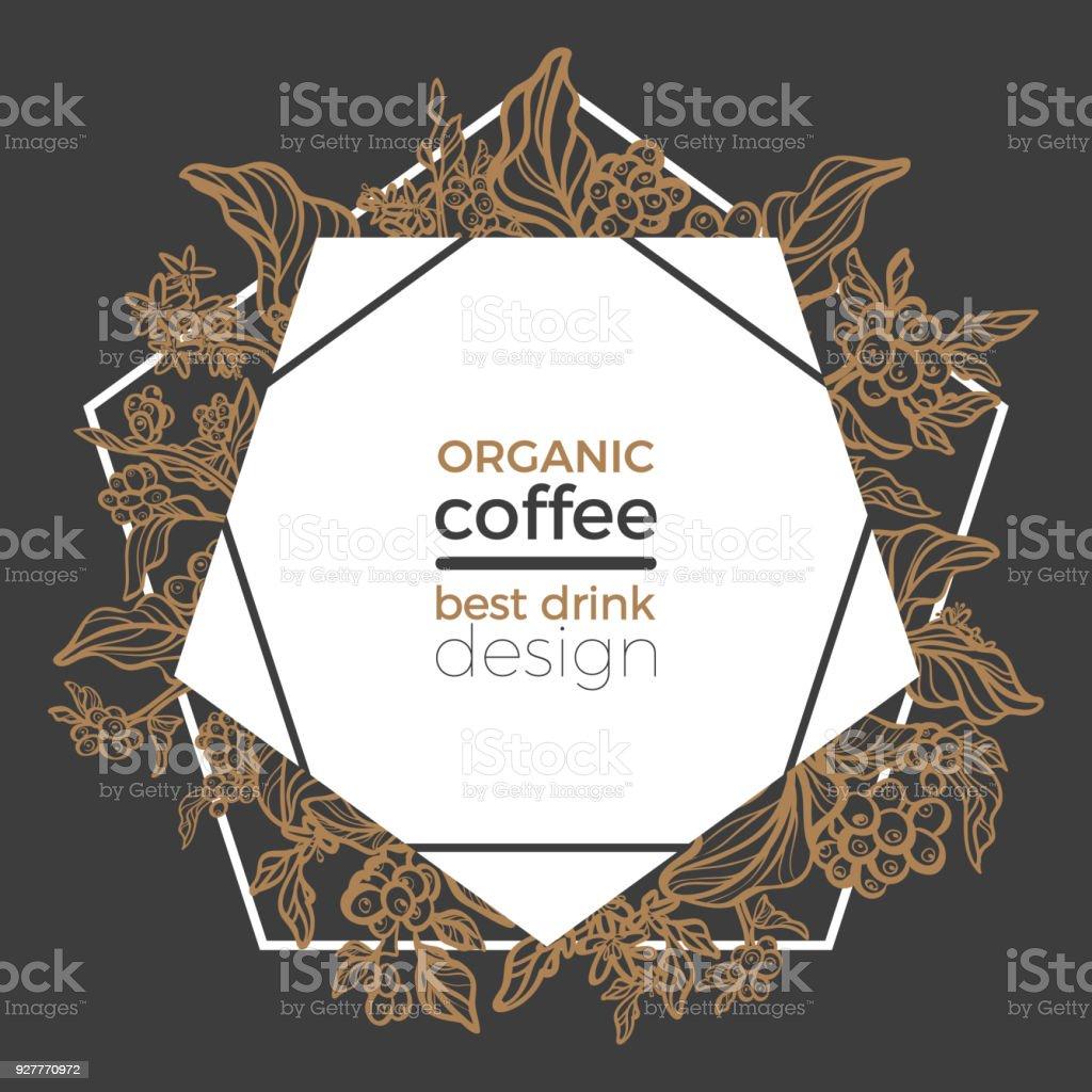 Vorlage Der Zweig Der Kaffeebaum Vektorillustration Stock Vektor Art ...