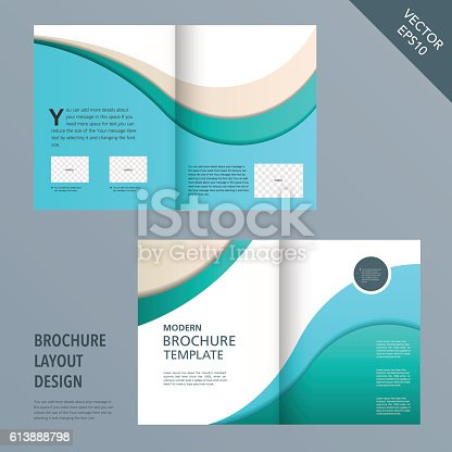 template of brochure design with spread pages アクセスしやすいの