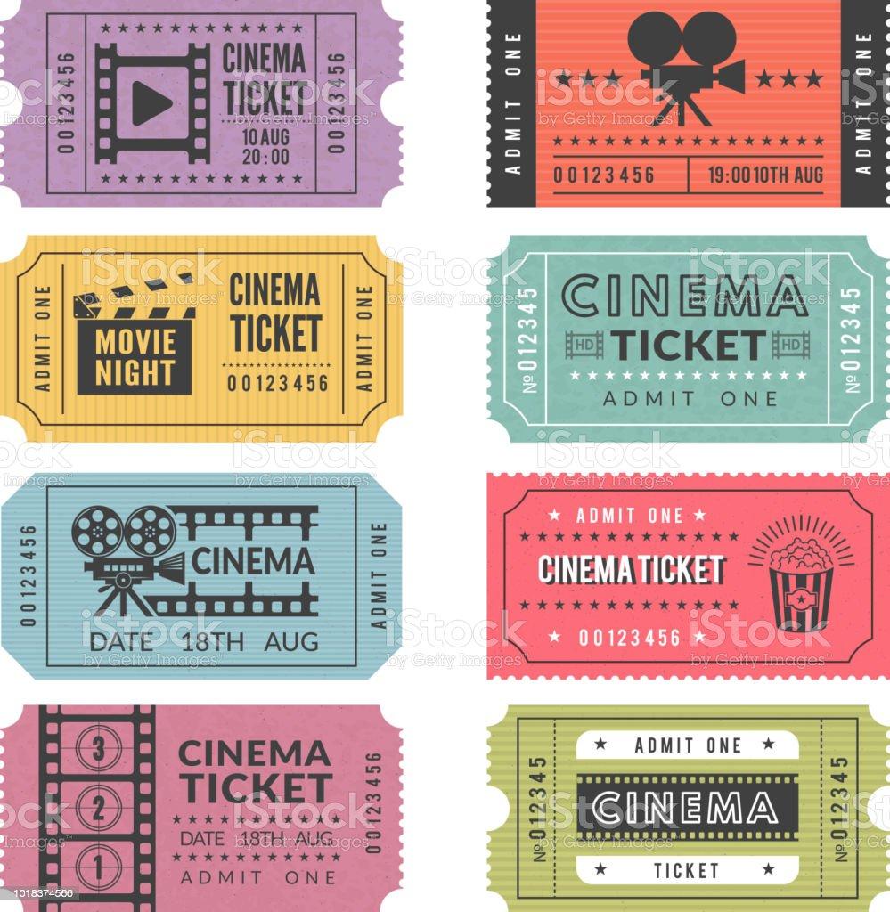 Template Of Cinema Tickets Vector Designs Of Various Cinema Tickets