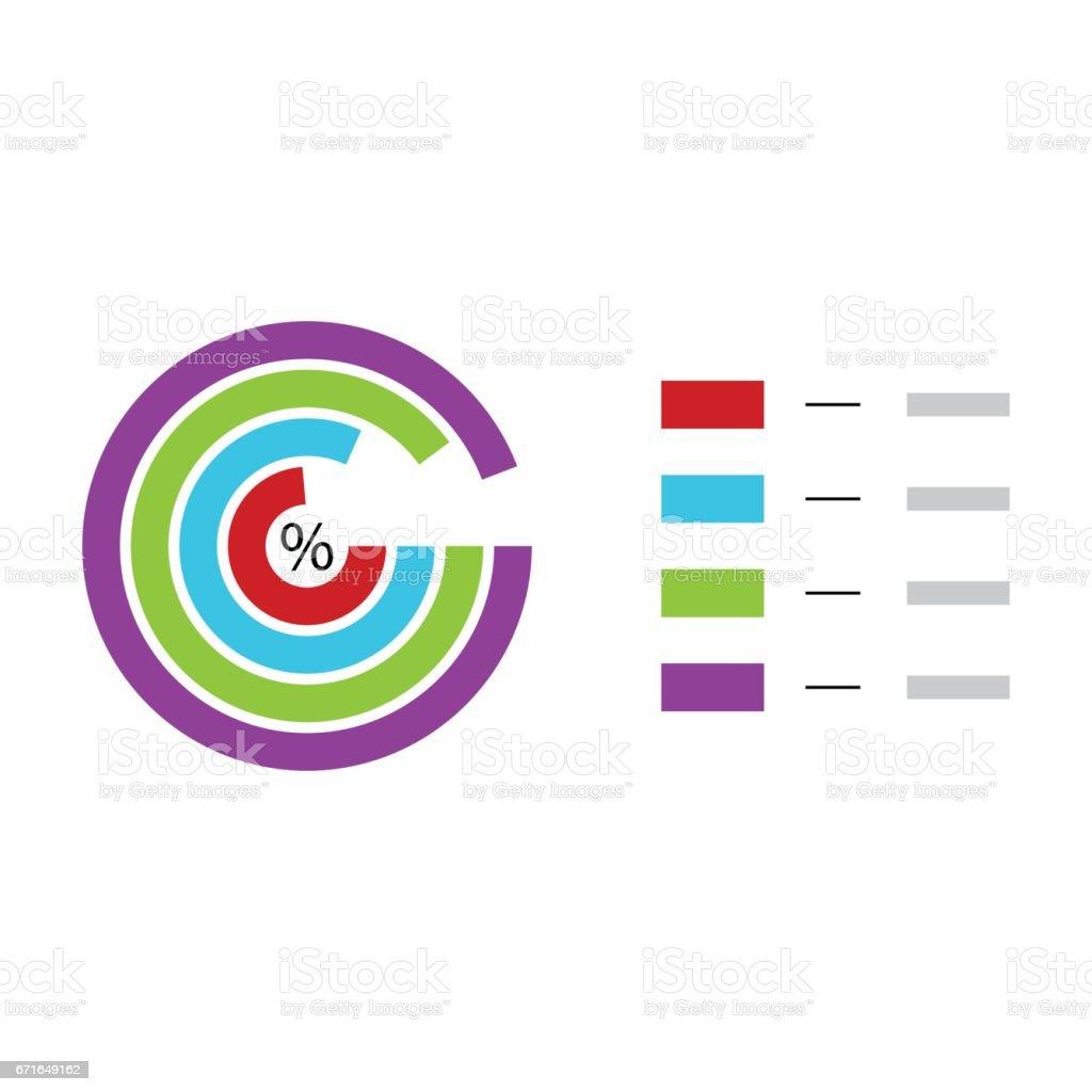 Plantilla De Gráfico Circular - Arte vectorial de stock y más ...