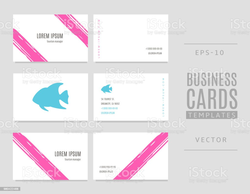Template Of Travel Business Cards Fish And Striped