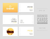 istock Template of travel business cards. Good for tourists, travel agents and tour operators. 977854622