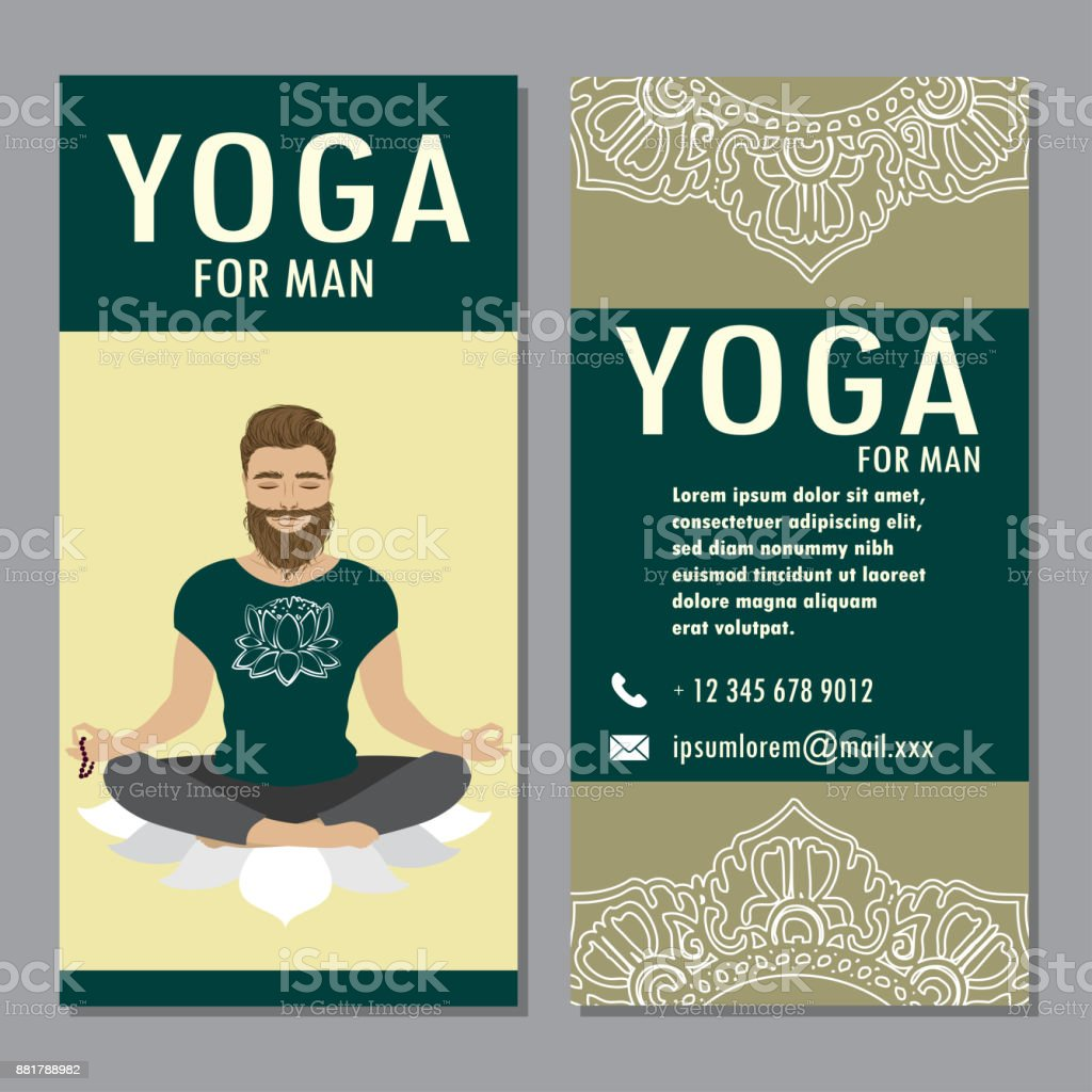 Plantilla De Yoga Cartel Folleto Bandera - Arte vectorial de stock y ...