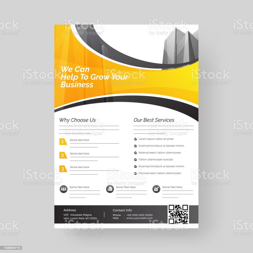 Vorlage Oder Flyer Design Für Businesswachstum Und Marketingkonzept