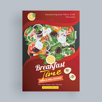 Template or flyer design for food corners and restaurant.