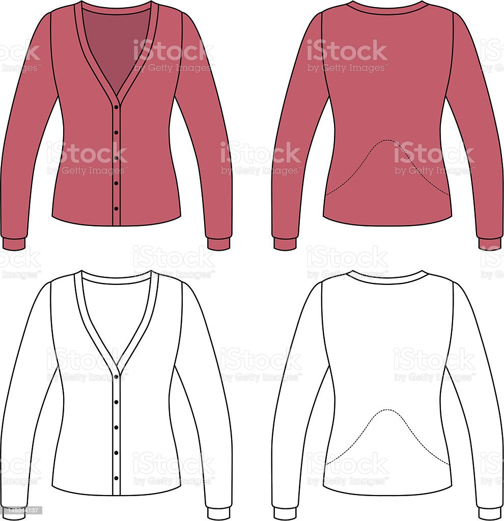 Template outline illustration of a blank woman jacket royalty-free template outline illustration of a blank woman jacket stock vector art & more images of black color