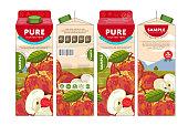 Template Packaging Design Apple Juice