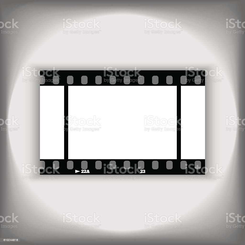 Template Photo Or Video 35mm Frame Design Stock Vector Art & More ...