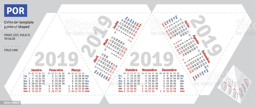 Template portuguese (brazilian) calendar 2019 pyramid shaped royalty-free template portuguese calendar 2019 pyramid shaped stock vector art & more images of advertisement