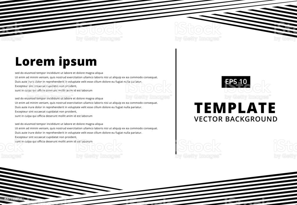 template presentation striped line pattern black for print ad, Presentation templates