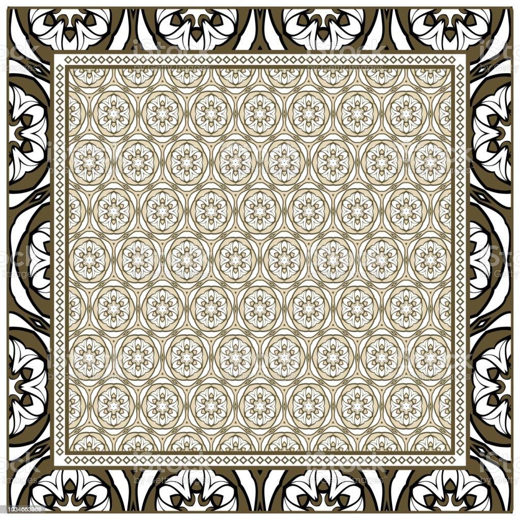 Ilustración de Impresión De Plantilla De Tela Patrón De Ornamento ...