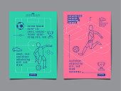 Template Sport Layout Design, Flat Design, Graphic Illustration, Football, Soccer, Vector Illustration.