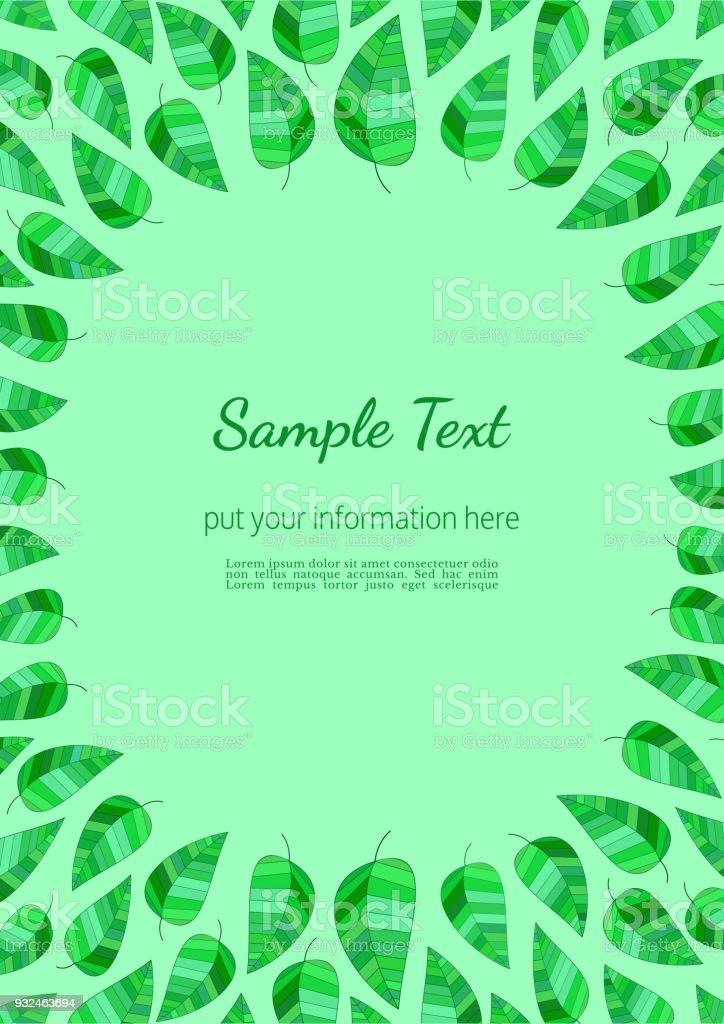 Template Spring Flyer Stock Vector Art & More Images of Abstract ...