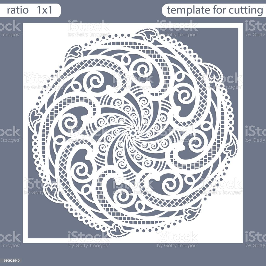 template square greeting cards laser cut suitable for wedding