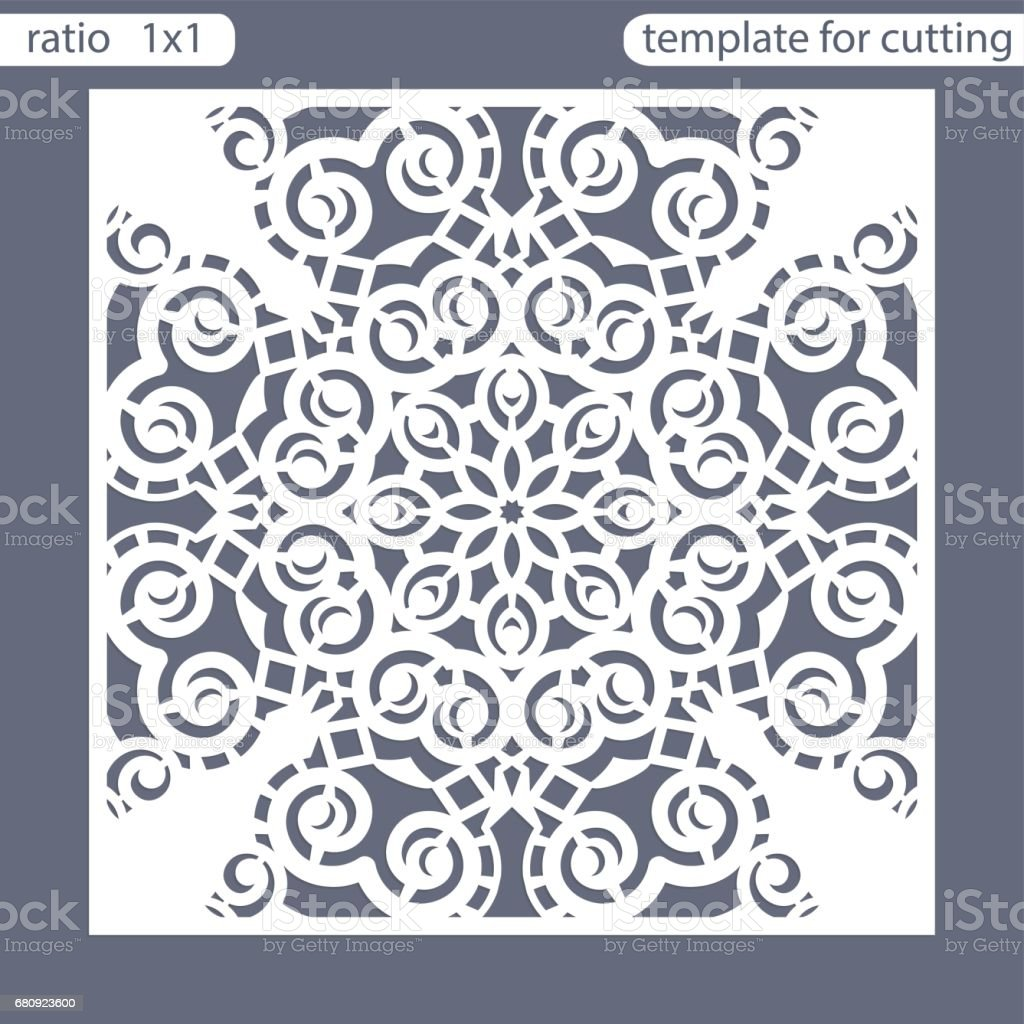 Template Square Greeting Cards Laser Cut Suitable For Wedding ...