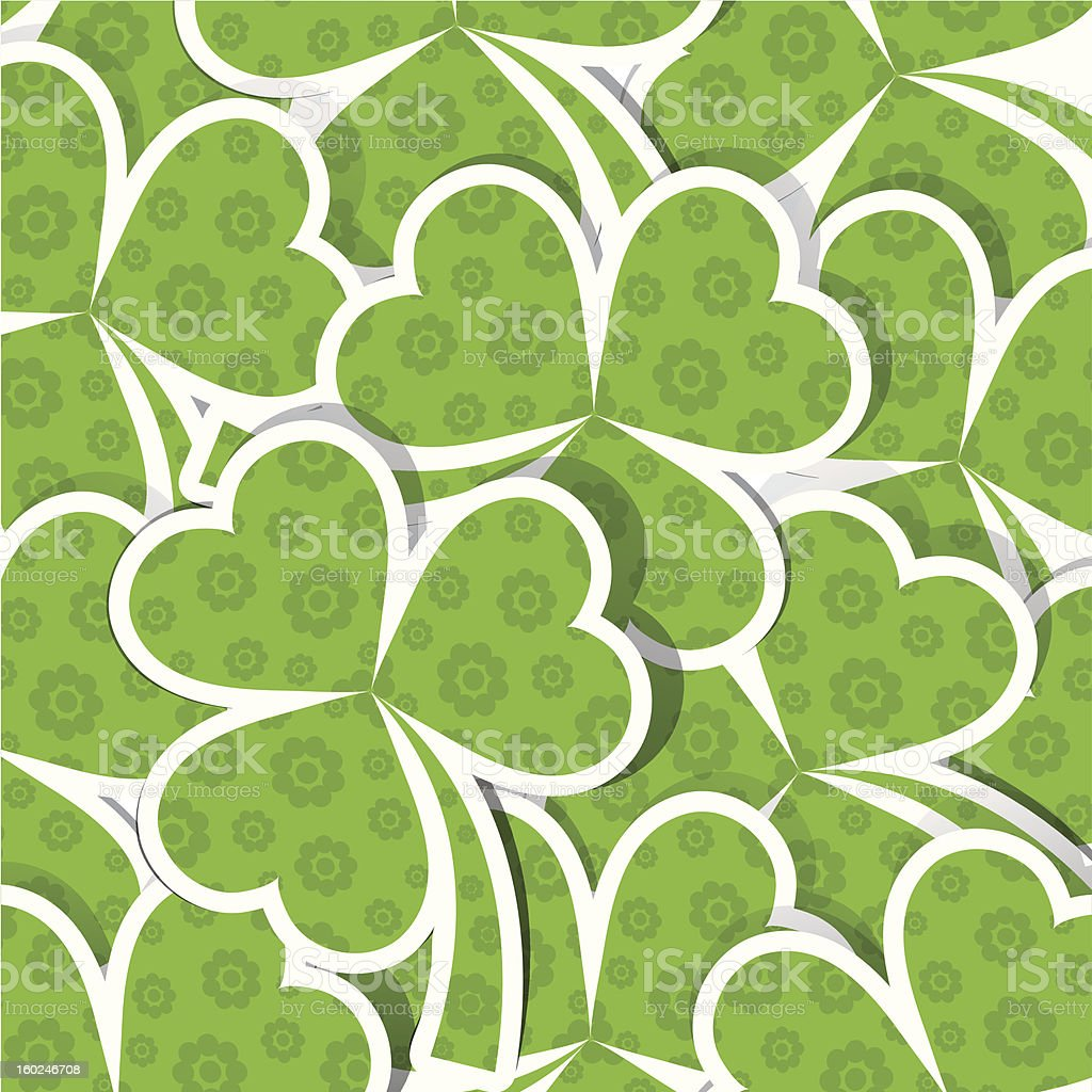 Template St. Patrick's day pattern, royalty-free stock vector art