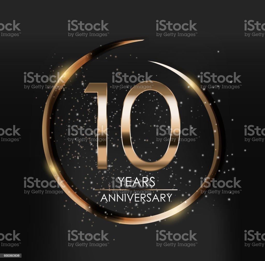 Template Symbol 10 Years Anniversary Vector Illustration Stock