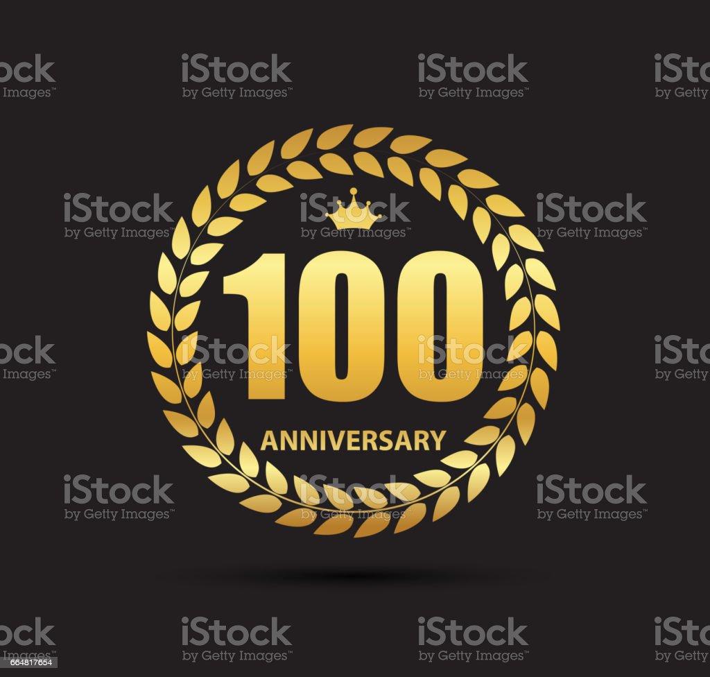 Template symbol 100 Years Anniversary Vector Illustration vector art illustration