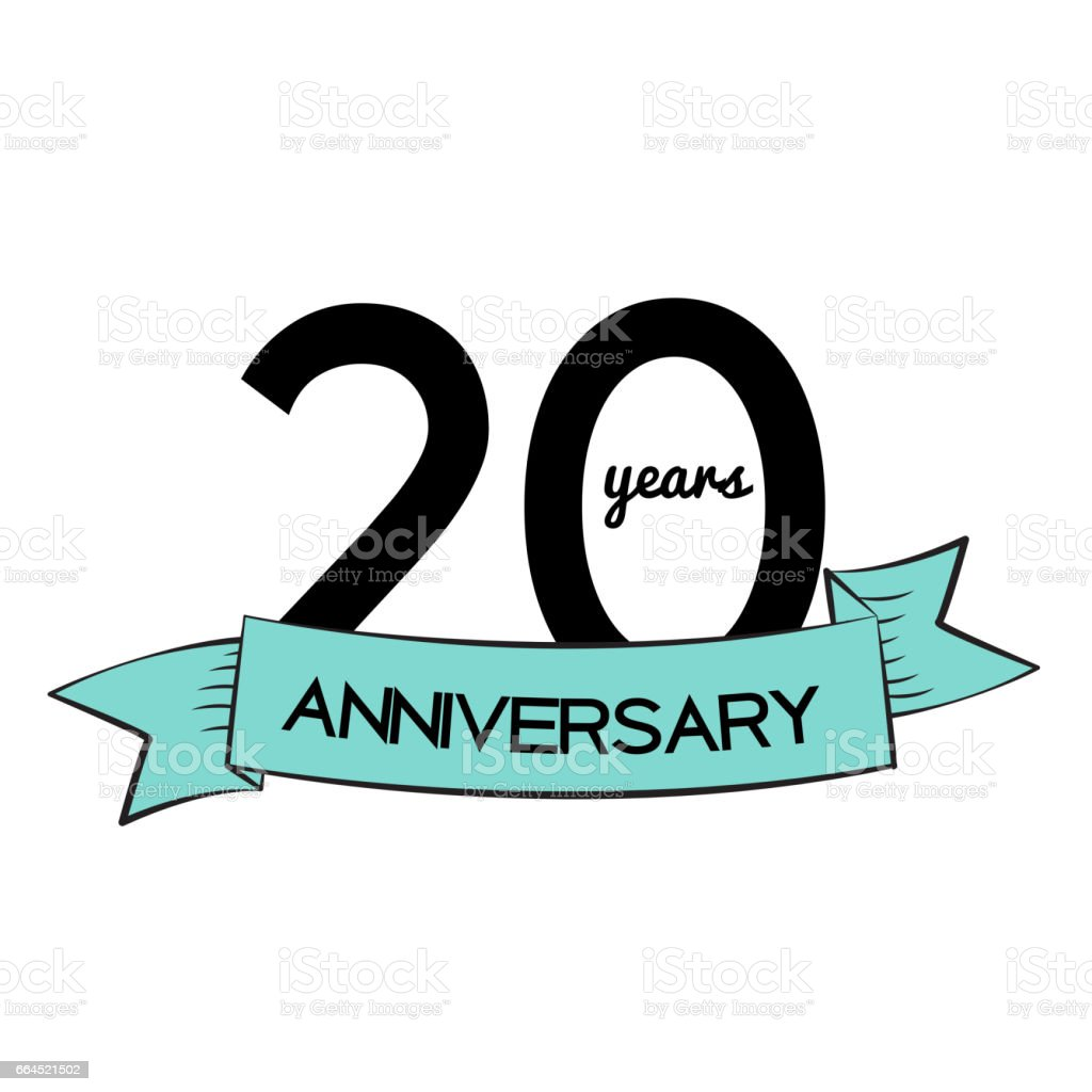 Template Symbol 20 Years Anniversary Vector Illustration Stock