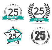 Template symbol 25 Years Anniversary Vector Illustration